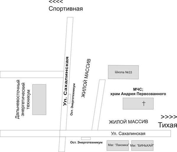 Схема проезда к домовому храму